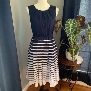 Talbots sleeveless pleated dress size 6